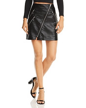 Blank NYC | Blanknyc Zip-Front Faux Leather Skirt | Clouty