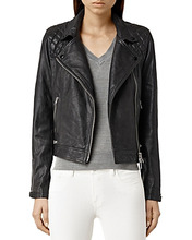 AllSaints | Allsaints Conroy Quilted Leather Biker Jacket | Clouty