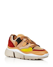 Chloé | Chloe Women's Sonnie Mixed-Media Low-Top Sneakers | Clouty