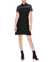 Sandro | Sandro Iberia Embellished Lace Inset Dress | Clouty
