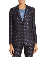 Armani Collezioni | Armani Collezioni Polka Dot Long-Line Jacket | Clouty