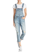 Blank NYC   Blanknyc Distressed Denim Overalls   Clouty