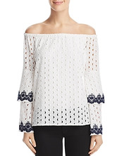 Bailey 44 | Bailey 44 Phlox Eyelet Off-the-Shoulder Top | Clouty