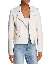 Blank NYC   Blanknyc Lace-Up Faux Leather Moto Jacket - 100% Exclusive   Clouty