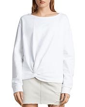 AllSaints | Allsaints Paloma Twist-Front Sweatshirt | Clouty
