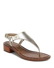 Sam Edelman | Sam Edelman Women's Jude Leather Thong Sandals | Clouty