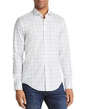 BOSS | Boss Ridley Grid Slim Fit Button-Down Shirt | Clouty