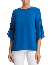 Michael Michael Kors | Michael Michael Kors Lace-Up-Sleeve Top | Clouty