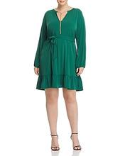 Michael Michael Kors | Michael Michael Kors Plus Chain-Embellished Ruffle Dress | Clouty