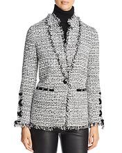 Bagatelle | Bagatelle Velvet Trim Tweed Blazer | Clouty