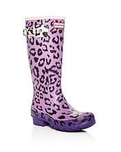 Hunter | Hunter Girls' Original Matte Leopard-Print Rain Boots - Little Kid, Big Kid | Clouty