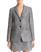 Emporio Armani | Emporio Armani Rhinestone Studded Gled Plaid Blazer | Clouty
