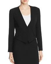 Armani Collezioni | Armani Collezioni Pointed-Hem Wool Jacket | Clouty