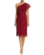 Nanette Nanette Lepore | nanette Nanette Lepore One-Shoulder Lace Sheath Dress | Clouty