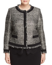 Marina Rinaldi | Marina Rinaldi Contessa Metallic Fringed Jacket | Clouty
