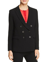 Emporio Armani | Emporio Armani Double-Breasted Peak Lapel Blazer | Clouty