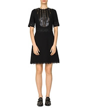 The Kooples | The Kooples Drapey Grommeted Lace-Inset Dress | Clouty