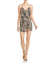 Haute Hippie | Haute Hippie Chorus Abstract Camo-Print Slayer Romper | Clouty