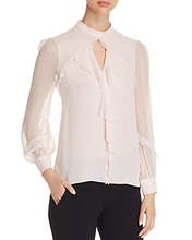 Elie Tahari | Elie Tahari Vianna Ruffled Silk Top | Clouty
