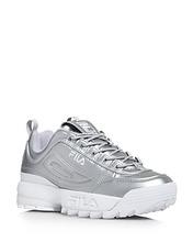 FILA | Fila Women's Disruptor Ii Premium Lace Up Metallic Leather Dad Sneakers | Clouty
