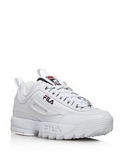 FILA | Fila Women's Disruptor Ii Premium Lace Up Leather Dad Sneakers | Clouty