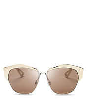 Dior | Dior Women's Mirrored Round Sunglasses, 55mm | Clouty
