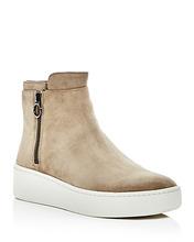 Via Spiga | Via Spiga Women's Easton Suede Platform High Top Sneakers | Clouty