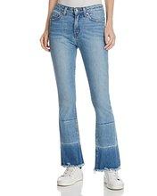 Derek Lam 10 Crosby | Derek Lam 10 Crosby Jane Mid-Rise Flip-Flop Jeans in Light Wash | Clouty