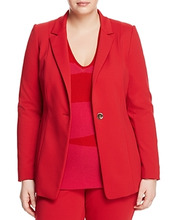 Marina Rinaldi | Marina Rinaldi Cinzia Single-Button Blazer | Clouty