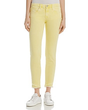 Blank NYC | Blanknyc Frayed Ankle Skinny Jeans in Yellow - 100% Exclusive | Clouty