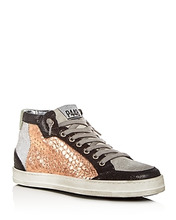 P448 | P448 Women's Love Mixed Media Mid Top Sneakers | Clouty
