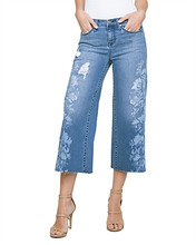 Liverpool | Liverpool Printed Wide-Leg Crop Jeans in Melbourne | Clouty