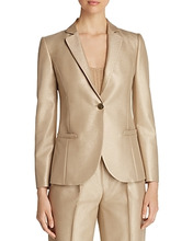 Emporio Armani | Emporio Armani Metallic Single-Button Blazer | Clouty