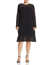 Michael Michael Kors | Michael Michael Kors Plus Lace Inset Dress | Clouty