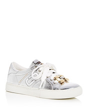 Marc Jacobs | Marc Jacobs Women's Empire Leather Chain Link Lace Up Sneakers | Clouty