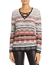 Nic+Zoe | Nic+Zoe Red Hills Crossover Strap Sweater | Clouty