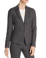 BOSS | Boss Jibena Grid-Print Two-Button Blazer | Clouty