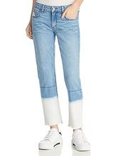 Derek Lam 10 Crosby | Derek Lam 10 Crosby Mila Mid Rise Slim Jeans in Bleached Hem | Clouty