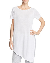 Eileen Fisher | Eileen Fisher Asymmetric Organic Linen Tunic | Clouty