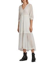AllSaints | Allsaints Palma Swiss Dot Maxi Dress | Clouty