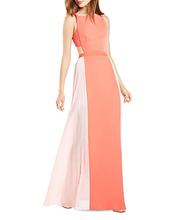 BCBGMAXAZRIA | Bcbgmaxazria Square Neck Color Block Gown - 100% Exclusive | Clouty
