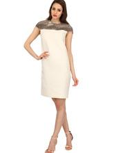 Bally   Платье Из Шерсти, Шёлкового Газа И Кожи Питона   Clouty
