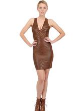 Tom Ford | Стеганое Платье Из Кожи | Clouty