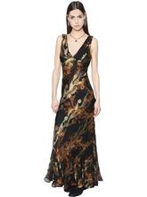 Etro | Платье Из Шёлкового Шифона И Ламe С Принтом | Clouty