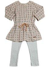 Sticky-Fudge | Платье Из Поплин И Трикотажные Легинсы | Clouty