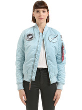 "Alpha Industries | Куртка-Бомбер Из Нейлона С Аппликациями ""Nasa | Clouty"