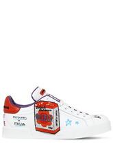 Dolce & Gabbana | Кожаные Кроссовки Graffiti & Patches 20Мм | Clouty