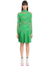 VALENTINO | Платье Из Шёлковой Саржи И Кружева | Clouty