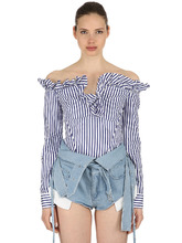 MARQUES'ALMEIDA | Рубашка Из Хлопка Поплин | Clouty