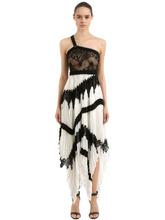 GIVENCHY | Платье Из Шелка Жоржет И Кружева | Clouty